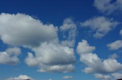 青い空と白い雲…