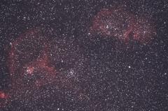 カシオペヤ座の散光星雲