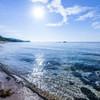 Beginning of blue sea