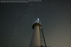 Lighthouse and starry sky☆