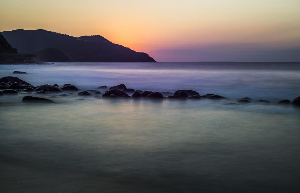 二見ヶ浦の夕景