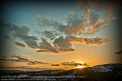 Evening sun in karst tableland☆