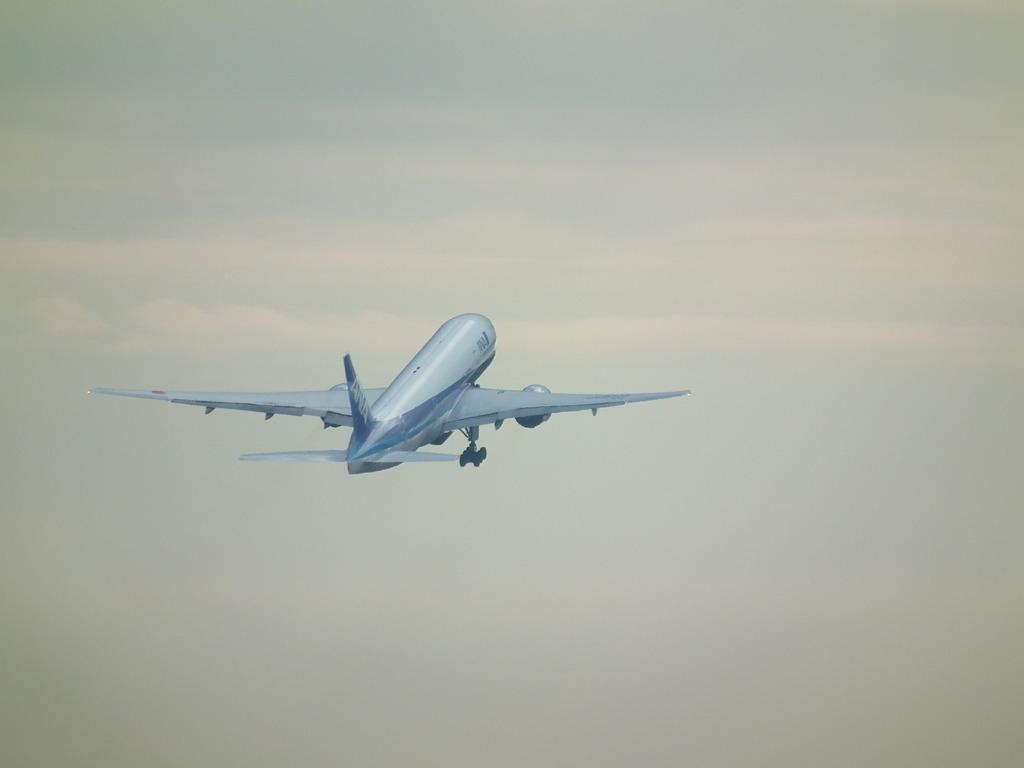 名古屋へ旅立つANA704便