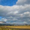 角田山の初雪と大鳥居