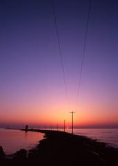 三国サンセットビーチ 夕日03