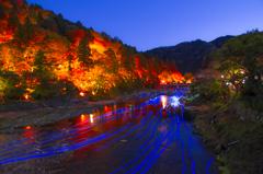 香嵐渓ライトアップ1