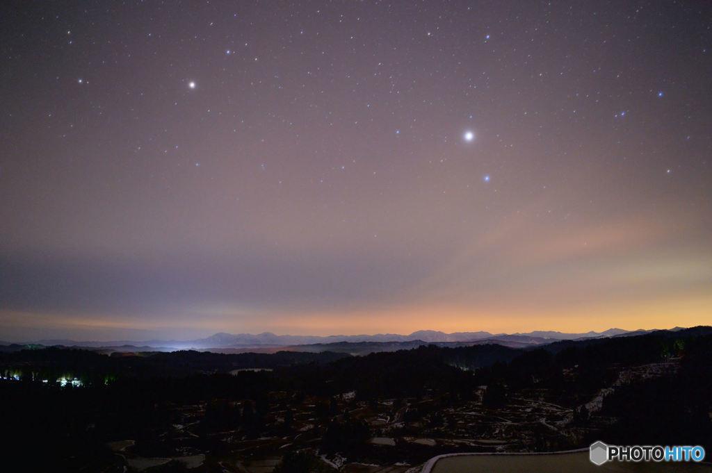 星と空の色