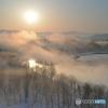 信濃川の川霧