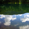 御射鹿池 秋の雲