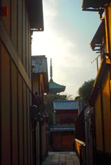 塔が見える夕景 IMGP0114zz