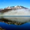 朝靄かかる霊仙寺湖 IMGP1165zz