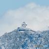 雪の岐阜城