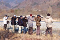 野鳥を撮る人を撮る