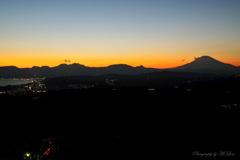 西湘の夕景