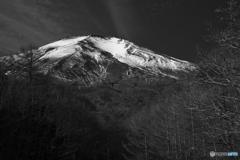 晩秋の朝富士