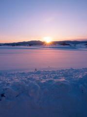 ある冬の夕日