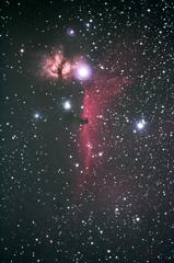 馬頭星雲と燃える木