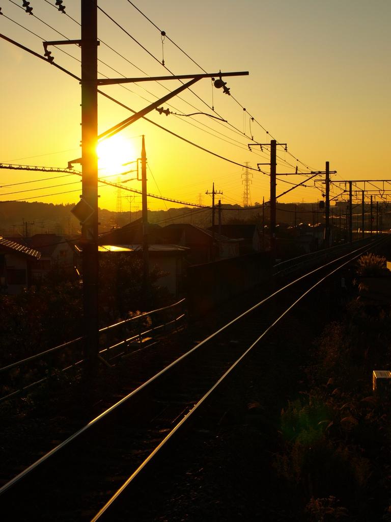 旅立ちの日、朝焼け