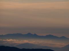 朝の八ヶ岳