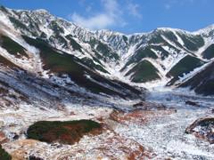 初雪の立山連峰