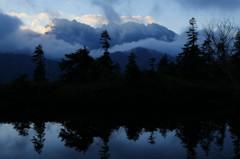 鏡平から穂高岳