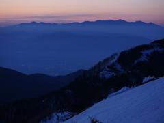 夜明けの八ヶ岳連峰