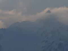 雲間の槍ヶ岳