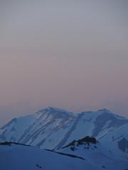 暮れゆく大天井岳