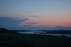 日没直後の木曽川