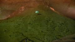 秋芳洞 - 洞内富士