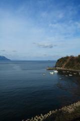 半島の小漁港