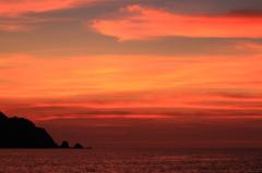 和田海岸の夕焼け