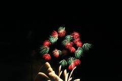 無数の花火