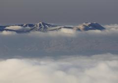 阿蘇烏帽子岳冬景色