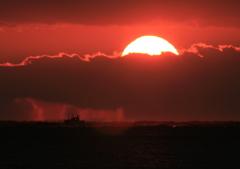 元旦 嵐の落陽
