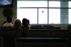 長崎行きの飛行機待ち