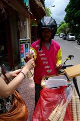 ice cream:3,000Rp