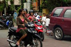 woman's biker