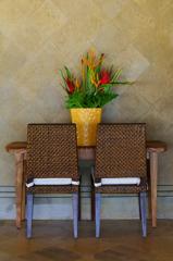 kursi dan bunga