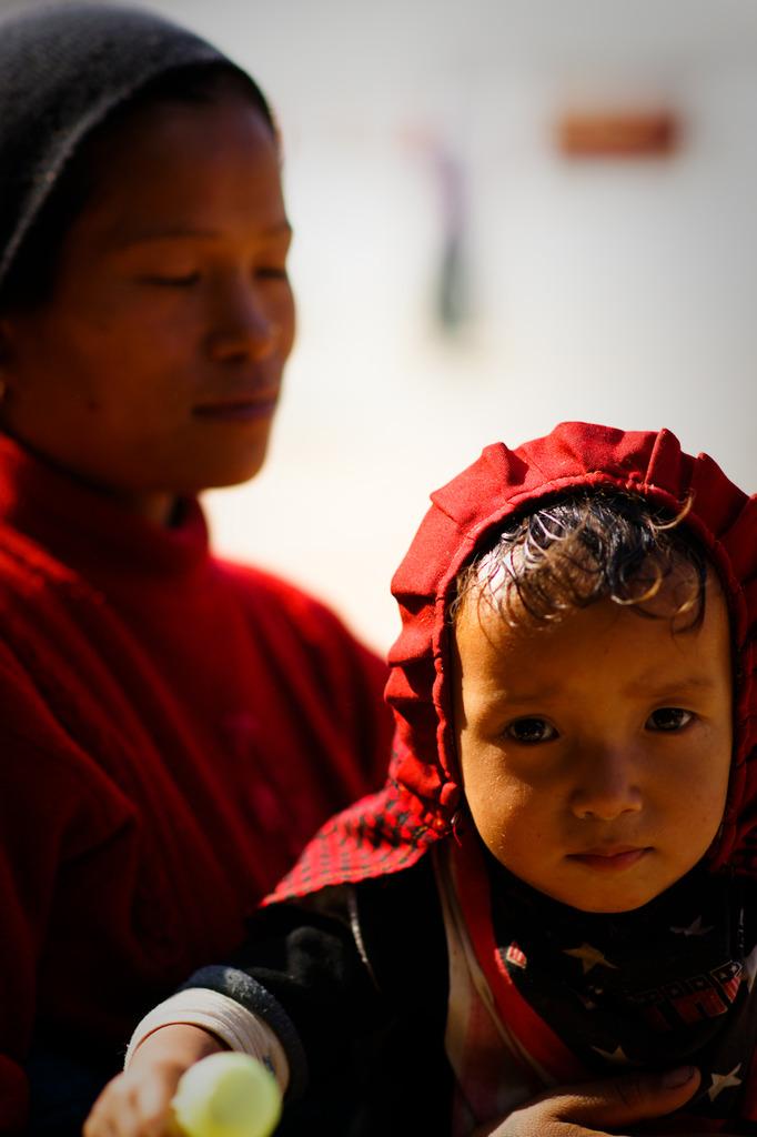 チベタン親子