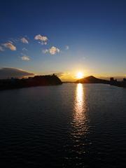 大晦日の木曽川