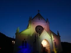 聖ザビエル天主堂・ライトアップ