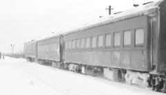 ストーブ列車と腕木式信号機
