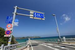 ↑角島 2km