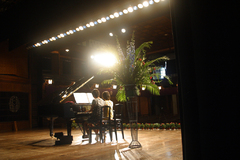 今日はピアノの発表会
