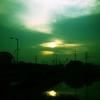 橋の上の朝日(別フィルター)