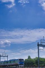 8月の空とアーバンパークライン Ⅰ