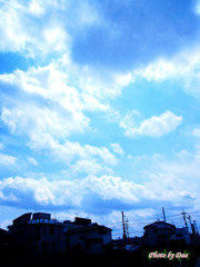 帰り道の空