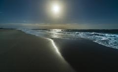 冬らしくない海