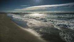 冬らしい海